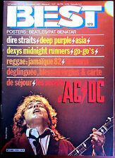 BEST n°173 du 12/1982; Les secrets d'AC-DC/ Dire Straits/ Deep Purple/ Asia