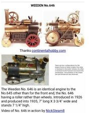 Weeden 646 Steam Roller from the 1920s, toy train, steam engine,excellent cond.