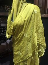 Vintage Green Silk Sari Shawl Wrap