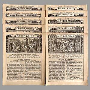10 Hefte Kinder Kirchen Zeitschrift 1913 BILD DRUCK Hans Tagedieb General Yorck