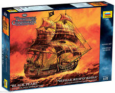 "ZVEZDA 9037 Captain's Jack Sparrow Ship ""Black Pearl"" Schiffe Modellbausatz 1:72"