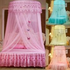 Princess Round Dome Mosquito Lace Canopy Hung Bed Insect Nets Curtains Romantic