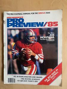 Don Heinrich's 1985 Pro Preview Joe Montana SF 49ers EX