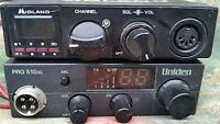 2 MIDLAND  CB Radio Transceiver Model 77-104 & UNIDEN PRO 510 XL LOT 2