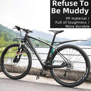 FRONT REAR MTB MOUNTAIN BIKE MUD GUARD SET WIDE CYCING BICYCLE FENDERS TOUGH