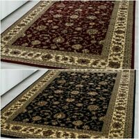 Quality Oriental Traditional Bordered Classic Design Soft Rug Red, Black Carpet