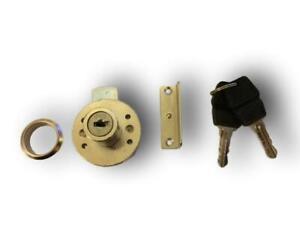 Round Cupboard lock. Office Furniture, Cabinet Lock, drawer rim lock *Free P&P*