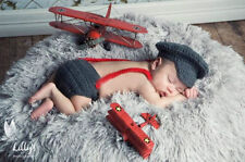 Newborn Baby Boys Crochet Knit Costume Photo Photography Prop Outfits Y15