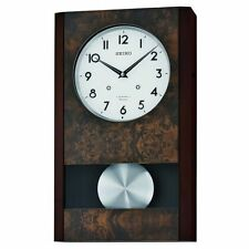 Seiko Wooden Musical Wall Clock 18 Classical and Christmas Melodies QXM359BLH