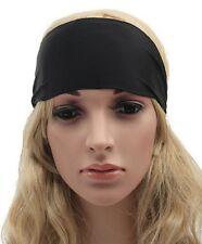 Bandeau cheveux tête fond noir  ajustable élastique.