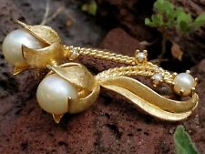 Vintage 14K Gold Pearl Pin Brooch/Estate Jewelry 9.1g