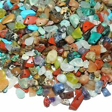 GC9911 Assorted Gemstone Nugget Chip Mix Medium 4mm - 14mm Beads 1oz Package
