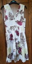 full circle cotton floral summer dress 12 medium