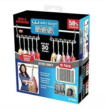 Wonder Hanger Max New & Improved, Pack of 10-3x The Closet Space for Easy, Comes