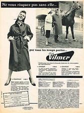 PUBLICITE ADVERTISING 015  1956  VILMER  vetements de pluie impermébles