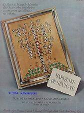 PUBLICITE MARQUISE DE SEVIGNE BLASON ARBRE GENEALOGIQUE DE 1952 FRENCH AD PUB