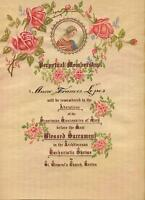 VINTAGE HAND PAINTING VIRGIN MARY GARDEN FLOWERS ROSES FRANCISCAN CERTIFICATE