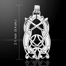 Viking Borre Animal Art .925 Sterling Silver Pendant by Peter Stone Jewelry