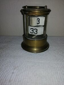 Antique, Brass, Ticket / Plato / Flip Clock, Good Original Cond. For Restoration