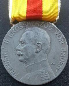 ✚9402✚ German WW1 Baden Silver Medal of Merit Silberne Verdienstmedaille