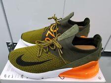 Nike Air Max 270 Flyknit - Olive Flak/Cargo Khaki/Total Orange/Black - Size 11.5