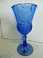"AVON 8"" Cobalt Blue George Washington Goblet Glass Vintage 1976"