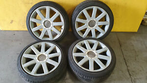 """GENUINE OEM AUDI TT A4 A6 18"""" S-LINE ALLOY WHEELS AND FREE TYRES SET 225/40 ZR18"""