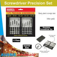 Precision Mini Screwdriver Set 11pc Phone Watch Jewellery Electronic Repair Tool