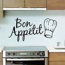 Bon Appetit Kitchen stickers Removable Vinyl Quote Art Lettering Graphic Best