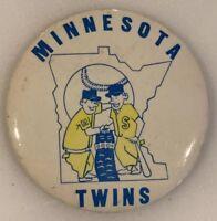 "Vintage Button Pin Pinback Minnesota Twins Club  3 1/2"" Classic Design Baseball"
