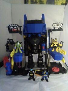 Batman Imaginext Robo Batcave Set and Figures (incomplete)