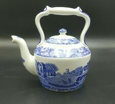 More details for spode blue 'italian' mini teapot/tea kettle-excellent