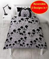 Disney Mickey Mouse simple Ensemble housse de couette Garçons Enfants gris