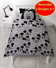 Disney Mickey Mouse Simple Housse Couette Set Garçons Enfant Gris Chambre Cadeau