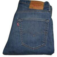 Mens LEVI'S 508 Blue Regular Tapered Stretch Denim Jeans W32 L34