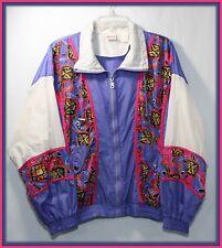 Womens vintage Windbreaker M Athletic Works Color Block 80s/90s hipster festival