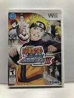 Nintendo Wii - Naruto Shippuden Clash Of Ninja Revolution III - Complete Tested