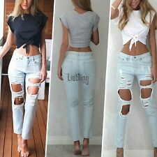 NEW Lady T-shirt Cropped Casual Sexy Crop Top Short sleeve O-neck Blouse Fashion