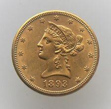 1893-S $10 DOLLAR LIBERTY GOLD EAGLE COIN