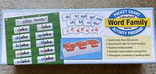 New Homeschool Word Family Pocket Chart Activity Program Lakeshore #Rr276 Sealed
