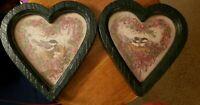 Vintage HOMCO HOME INTERIORS Heart Framed BIRD PRINTS By Barbara Mock Valentine