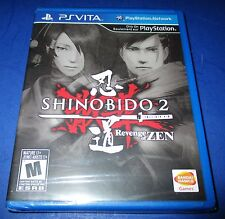 Shinobido 2: Revenge of Zen Sony PlayStation Vita *Factory Sealed! *Free Ship!