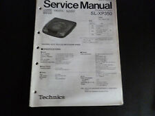 ORIGINALI service manual TECHNICS Portable CD Player sl-xp-350