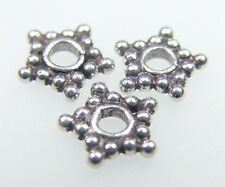 925 Sterling Silver Handcrafted Bali Star Spacer 7mm 10 gram / 46 pcs #5161-7