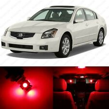 13 x Brilliant Red LED Interior Light Package For 2004 - 2008 Nissan Maxima