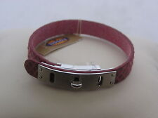 Fossil Brand Stainless Steel Red Reptile Turn Lock Cuff Bracelet