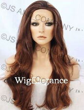 Super Long Layered WAVY Strawberry Auburn Red Mix WIG WAAS 27-30-33