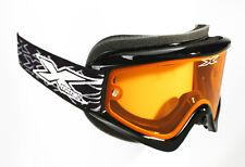 Eks X Brand X Nuevo Adulto Goggle Brillante Negro + Naranja Lente Esquí Ski Snowboard