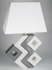 formano Lampe zick-zack creme edel modern 75 cm