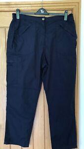 Regatta ladies navy walking outdoors trousers size 22 long